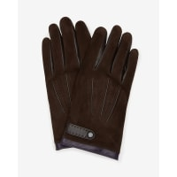 Ted BakerSuede and leather gloves Chocolate
