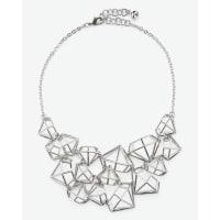 Ted BakerGem frame statement necklace Silver Color