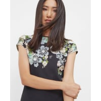 Ted BakerGem Gardens fitted T-shirt Black