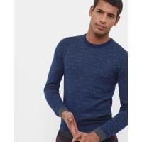 Ted BakerGeo design sweater Dark Blue
