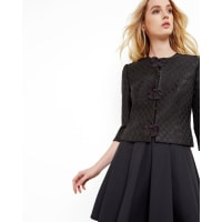 Ted BakerGlitter bow cropped jacket Black