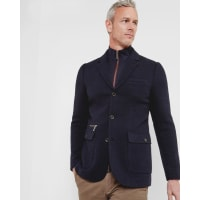 Ted BakerFunnel neck jersey jacket Navy