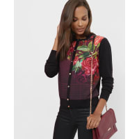 Ted BakerJuxtapose Rose cardigan Black