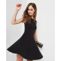Ted BakerKnitted jacquard skater dress Black