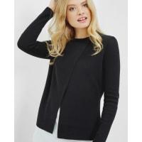 Ted BakerKnitted layered sweater Black