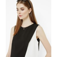 Ted BakerLayered color block top Black