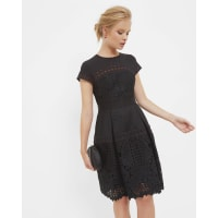 Ted BakerLayered lace dress Black