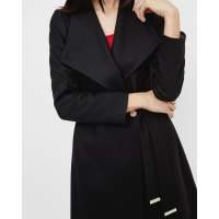 Ted BakerLong wrap coat Black