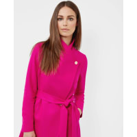 Ted BakerLong wrap coat Bright Pink