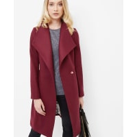 Ted BakerLong wrap coat Oxblood