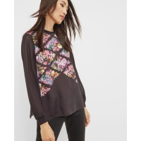Ted BakerLost Gardens woven top Black