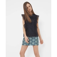 Ted BakerRuffle lace top Dark Blue