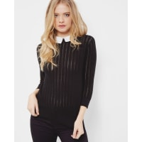 Ted BakerScallop collar sweater Black