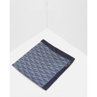 Ted BakerGeo print silk pocket square Blue
