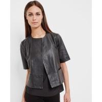 Ted BakerShort leather jacket Black