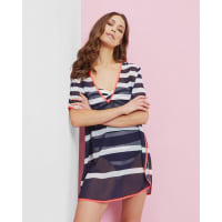 Ted BakerStriped cover up Navy