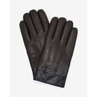Ted BakerTextured leather gloves Chocolate