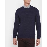 Ted BakerCrew neck textured sweater Dark Blue