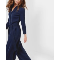 Ted BakerTailored wrap jumpsuit Navy