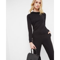 Ted BakerEmbellished cashmere-blend sweater Black