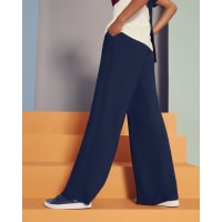 Ted BakerWide-leg belted pants Navy