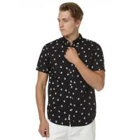 The Academy BrandSun Downer Ss Mens Shirt Black