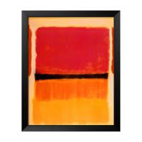 The Art StudioUntitled (Violet, Black, Orange, Yellow on White and Red), 1949 by Mark Rothko (Framed)