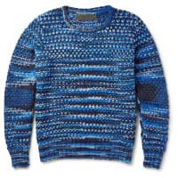 The Elder StatesmanPatterned Cashmere Sweater - Blue