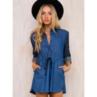 The Fifth LabelWomens The Fifth Burning Colour Playsuit Dark Blue 6
