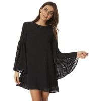 The Fifth LabelIn Theory Womens Bell Sleeve Dress Black