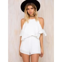 The Fifth LabelWomens The Fifth Lovers & Friends Playsuit Ivory 10