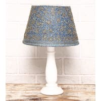 The India Craft HouseDeep Blue Zardozi Georgette Lamp Shades( Set Of 2) Large