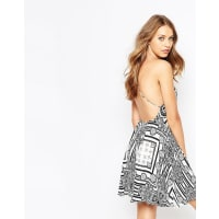 The Jetset DiariesBoa Noite Dress in Patch Print with Cross Back - Multi