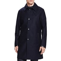 The KooplesNew Flannel Twill Slim Fit Trench Coat