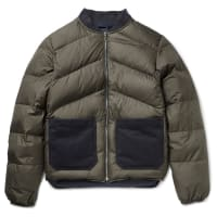 The Workers ClubReversible Quilted Shell Down Bomber Jacket - Green