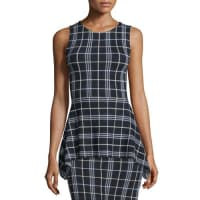 TheoryKalora Lustrate Plaid Peplum Top