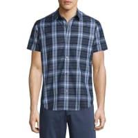 TheoryRammis Short-Sleeve Plaid Shirt, Outer Multi