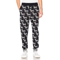 Thom BrowneHector Browne Jacquard Sweatpants in Blue,Abstract