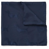 Thom BrowneHector Silk And Cotton-blend Jacquard Pocket Square - Navy