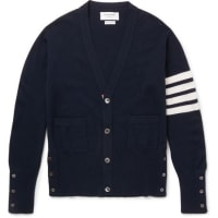 Thom BrowneSlim-fit Striped Cashmere Cardigan - Navy