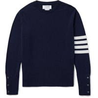 Thom BrowneStriped Cashmere Sweater - Navy