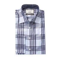 Thomas PinkMears Check Slim Fit Dress Shirt