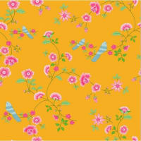 tiendasonpapel pintado bird branches yellow