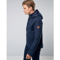 TimberlandHooded Windbreaker Jacket Water Resistant In Navy - Navy