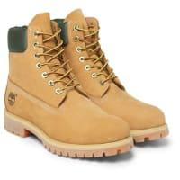TimberlandPremium Waterproof Leather-trimmed Nubuck Boots - Beige