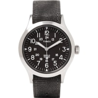 TimexArchive Scout Brook Stainless Steel And Stonewashed Webbing Watch - Charcoal