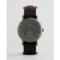 TimexWeekender Oversized Chronograph Watch In Black - Black