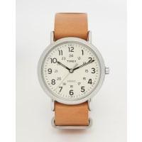 TimexWatch Weekender Leather Strap Watch T2P492 - Brown