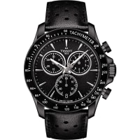 TissotT106.417.36.051.00 V8 Stainless Steel and Leather Chronograph Watch, Womens