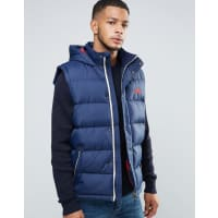 Tokyo LaundryChecked Gillet - Navy